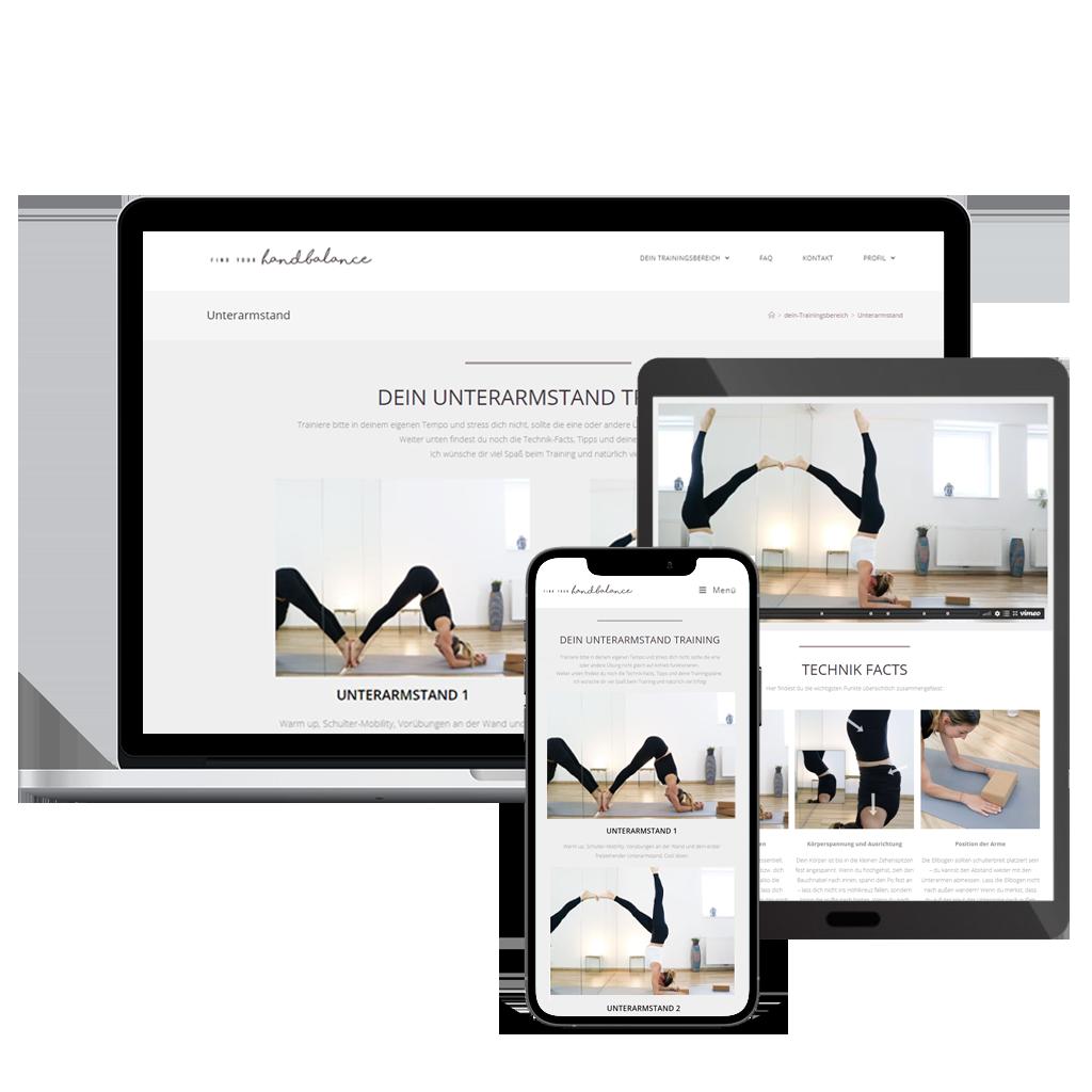 findyourhandbalance - desktop mobile tablet